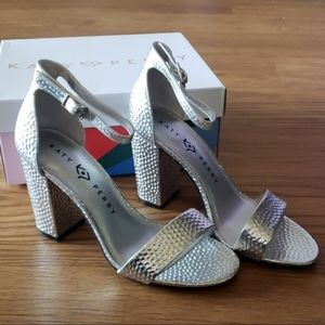 Katy Perry Collection Silver Heels Size 5